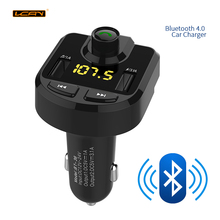 LCAV Car Bluetooth Charger FM Transmitter MP3 Radio Player With Dual USB Charger Voltage LED Display TF Card Music HandFree Kit(China)