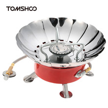TOMSHOO Gas Stoves Portable Collapsible Camping Backpacking Windproof Outdoor Stove Powerful Camping Equipment(China)