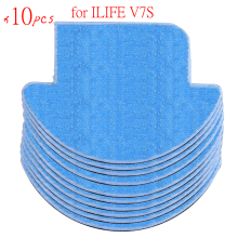 10 pcs ilife Robot Vacuum Cleaner MOP Cloths for chuwi ilife v7s Replacement Mop Cleaning Robot Vacuum Cleaner Mop