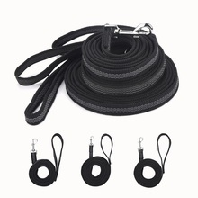 New Anti-skid Rubber and nylon medium and Large dog leash Hand-held design big dog chain training supplies Pet traction rope(China)