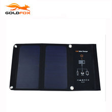 GOLDFOX High Quality 15W Foldable Solar Charger Portable Solar Panel Battery for iPhone 6s 6 Plus for iPad mini for iphone 7(China)