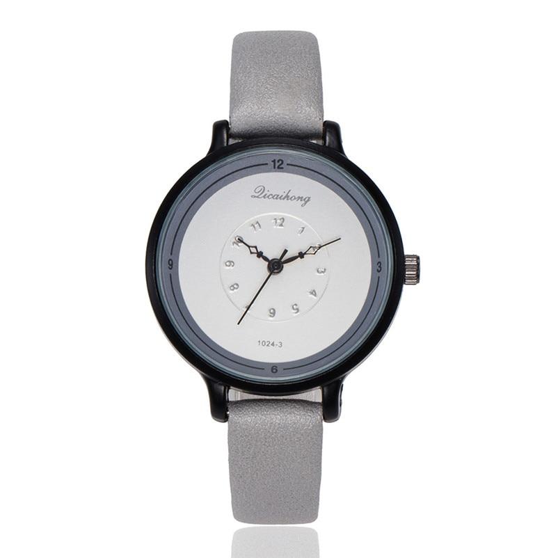 2018 High Quality women fashion casual watch luxury dress ladies Leather Band Analog Quartz Wrist Watch Clock relogio J13#N (4)