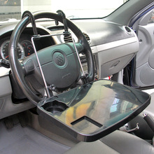 Auto black Laptop Tray Table Stand Steering Wheel Mount Car Truck SUV Travel Desk steering wheel