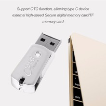 High Speed Small Size USB 3.1 Type-C OTG Card Reader Micro Secure Digital Memory Card/TF Card Reader For Phones