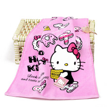 2Pcs/Set Home Textile Cartoon Hand Towel Hello kitty Soft Face Towel Cleaning Towel Dry Strong Water Absorption Towel(China)