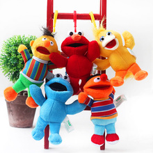 Sesame Street Elmo Big Bird Cookie Monster Erine Bert 15cm Plush Toys Cartoon Soft Stuffed Animals Dolls Pendant Kids Gift(China)
