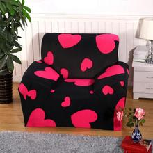 Love Heart Chaise Sofa Cover Big Elasticity Flexible Couch Cover Loveseat Sofa Cover Machine Washable