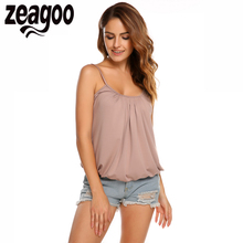 Buy Zeagoo Women Casual Tank Shirt Solid Adjustable Spaghetti Strap Cami Tank Top Summer Style White/Black Camis Vest Plus Size XXL for $8.48 in AliExpress store