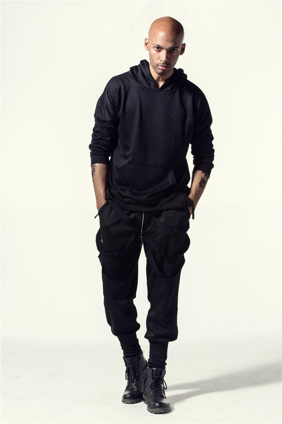 Una Reta Brand New Design Hoodie Men Fashion Sweatshirts Bandage Design Hip-Hop Style Plus Size M-5XL Pullover Sweatshirts Men 6