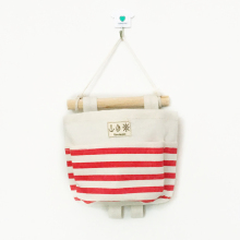 Recommend  Stripe Single pocket hanging bag Holder Storage basket Rack makeup Cosmetic organizer box
