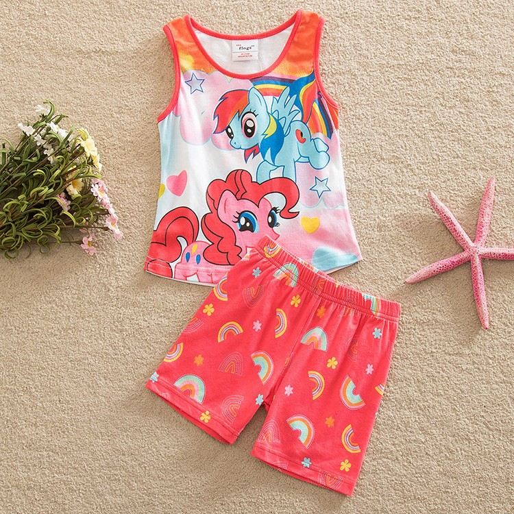 Girls skirts pants suit children wearing summer new pony bao li girls cotton dress cultivate ones morality pants suit TZ19001<br><br>Aliexpress