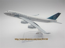 16cm Alloy Metal Air New Zealand Airlines Airplane Model Boeing 747 B747 400 Airways Plane Model w Stand Aircraft Gift(China)