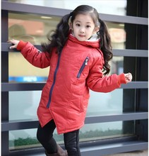 Boy Girl Winter Hooded Coat Retail 2016 new kids Top Quality Thick Wadded Jacket Parkas Child Clothing Children Winter Outwear