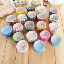 100pcs/set rainbow cupcake paper liners Muffin Cases Cup kitchen accessories Cake Baking egg tarts tray Pastry decorating Tools