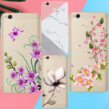Lotus leaf Peach blossom Case For iPhone X 8 7 4 4S 5 5S 5C SE 6 6S Plus For Xiaomi Redmi 4 4A 3S 3 S 4X Note 3 4 Pro Prime 4X(China)
