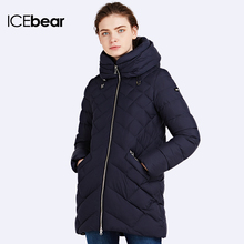 ICEbear 2016 Two Way Zipper Design Winter Fashion Jackets Women's Warm Coat And Parka Tag Sewn Quality 16G686