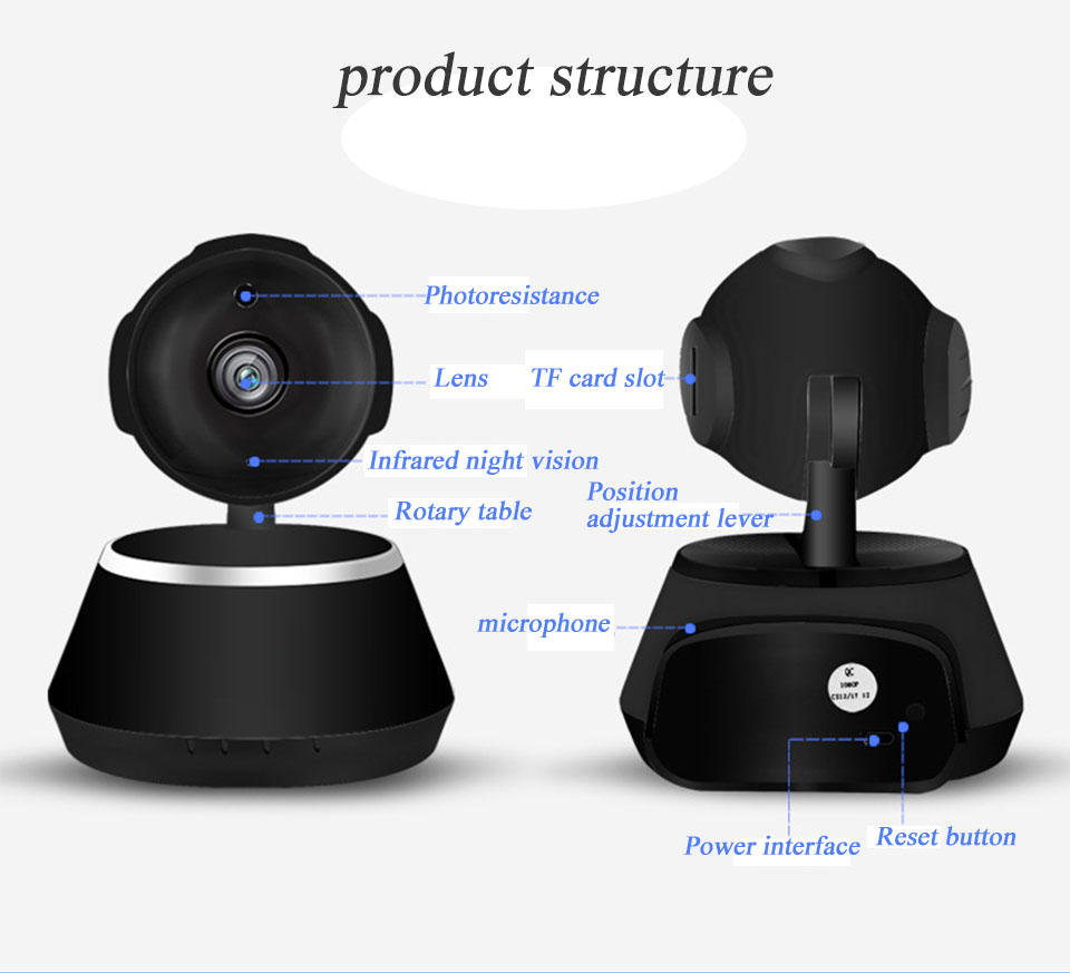 IP Camera Wifi 1080P Security Camera 720P Mini IP Camera Home CCTV Cameras P2P Two Way Audio Motion Detection IR-CUT  (14)