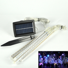 144 LEDs RGB Solar powered Meteor Lights Colorful Solar Lamp Romantic for Valentine Wedding Decoration