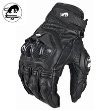 Furygan AFS6 Motorcycle Gloves Moto Racing Carbon Fiber Leather Guante Para Leather Motobike Racing Sports Gloves(China)