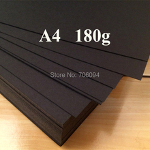 150PCS 180gsm A4 Black Paper Wrapping Paper for Gift Soap Flower Book Printing Paper Black cardboard