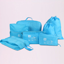 A Set Of Seven Outdoor Life Supplies Classification Bags Waterproof Clothing Storage Package Used For Family Camping Travel