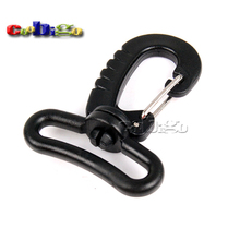 10pcs Pack  Plastic Swivel Snap Hook Black for Backpack Bag Belt Strap Luggage Webbing 32mm #FLC136-C