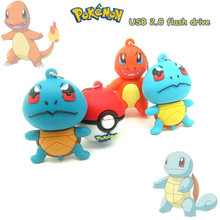 cartoon Squirtle Chelonia Charmander usb flash drive disk memory stick gift pendrive 4gb-32gb Pen drive Pokemon monster Pokeball