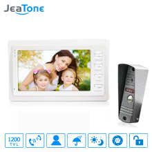 "Jeatone 7"" wired doorbell With Storage White Color HD Video Doorphone Intercom Systems 1200TVL Camera Home Security Kit"