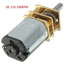 DC 12V 100RPM Gear Motor N20 Mini Electric Gear Box with Gearwheel 3mm Shaft Diameter(China)