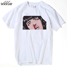 Buy Movie Mia Wallace Pulp Fiction T shirt Men Fashion Summer Quentin Tarantino T-shirt Hip Hop Girl Printed Top Tee plus size s-3xl for $7.99 in AliExpress store