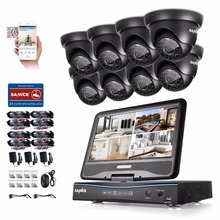 SANNCE 8CH 1080N HDMI DVR 8pcs 720P 1.0 MP IR Outdoor Weatherproof CCTV Camera Home Security System Surveillance Kits 1TB(China)