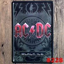 ACDC band retrometal painting tin wholesale trade custom shop decoration bar salon KTV tin sign,metal tin painting 30cm*20cm
