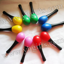 20PCS/10pair/Lot,Baby maracas,Plastic toys,Baby rattle,New baby toys,Music toys.Mixed color,13x3.8cm,Free shipping.Wholesale.
