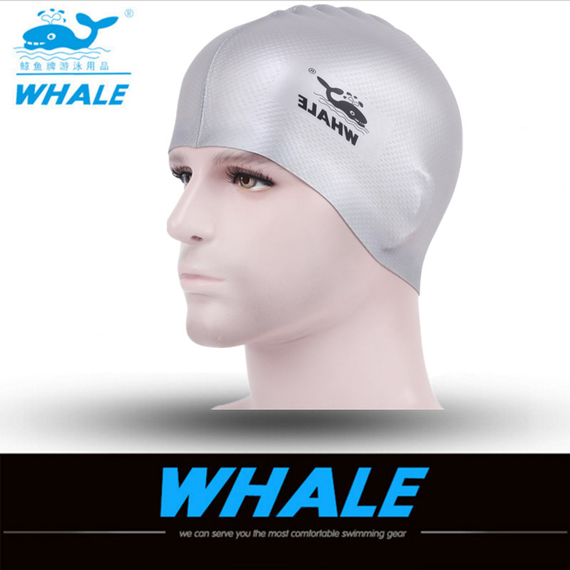 2017 New swimming cap silicone waterdrop unisex adults solid bright colour free size waterproof cover protect ears swimming caps(China (Mainland))