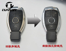 New Updating 3 Buttons Modified Smart Remote Key Shell Car Key Blanks Case for Mercedes-Benz S series +Battery Holder+Key Blade(China)
