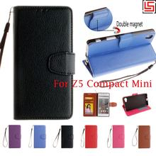Buy PU Leather Lether Lather Flip Book Wallet Wallt Phone Mobile Cell Case capa Cover Sony Xperia Experi Z5 Z 5 Compact Mini for $4.69 in AliExpress store