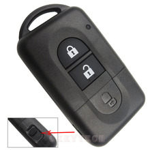 Okeytech 2 Button Remote key Shell for Nissan Micra Xtrail Qashqai Juke Duke For Nissan Key Fob Case Replacement free shipping