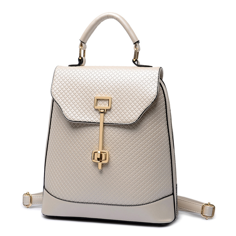 Women Backpack High Quality PU Leather Mochila Escolar School Bags For Teenagers Girls Top-Handle Large Capacity Student Package<br>