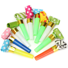 10Pcs/Bag Funny Whistles Kids Childrens Birthday Party Noise Maker Dots Blowing Dragon Blowout Baby Birthday gift Wholesales