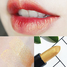 Meicailin Glod Makeup Lipstick Shiny Waterproof Cosmetic Beauty Makeup balm Long Lasting lip stick New Product(China)