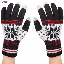 Fastest Delivery - Knitted Gloves for Women/Men Winter Warm Touchable screen gloves for Mobile Phone Pad Tablet(China)