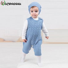 Fashion Newborn Baby Ropmers Warm Spring Winter Long Sleeve Baby Boy Girl Clothes Knitted Sleepwear Baby Rompers Dropshipping(China)