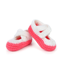Multicolor Handmade Baby Shoes Crochet Baby Booties Knitting Socks for Newborn 10 cm