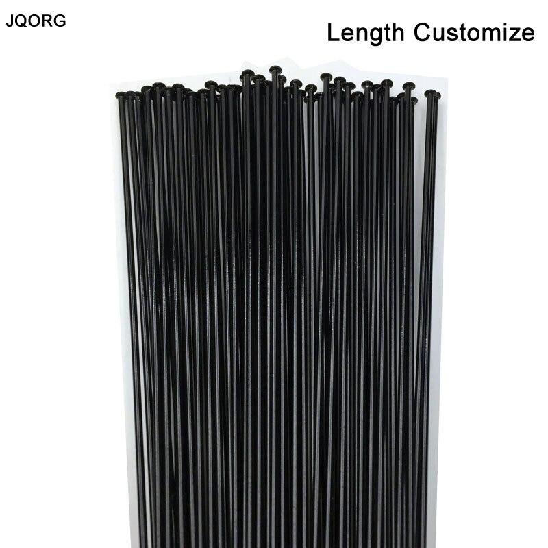 color plateado o negro longitud: de 250 mm a 298 mm 18 unidades Rayos de bicicleta cnSPOKE CN acero inoxidable