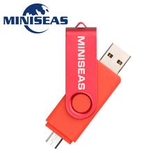 Miniseas 9 Colors Smart Phone Usb Flash Drive Pen Drive 4GB 8GB 16GB 32GB Pendrive External Storage Memory Stick Flash Drive