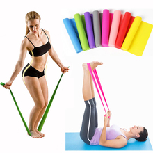 1.5m New Yoga Pilates Home Gym Exercise Elastic Resistance Bands Training Workout Sport Crossfit Body Building Fitness Equipment