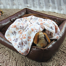 2017 Breathable Cat Bed Rest Dog Blanket Winter Foldable Pet Cushion Coral Fleece Cashmere Soft Warm Sleep Mat Sweet Dogs Beds(China)