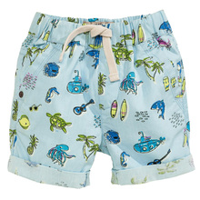 Boys Shorts Kids Clothes 2017 Brand Children Summer Beach Shorts for Boys Clothing Animal Print 100% Cotton Baby Boy Short Fille