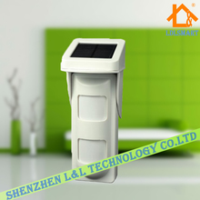 Intelligent wireless solar outdoor pir intrusion motion detector Anti-pet 20kg For home Secure Alarm System 433mhz
