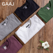 2017 T Shirt Men 100% USA Cotton Hip Hop Basic Blank T-shirt For Mens Fashion Tshirt Pink White Wine Green Purple Tee #GAB001(China)